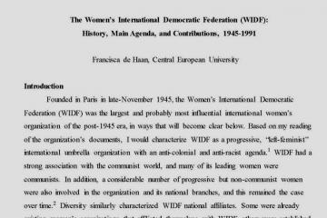 women and social movements international alexander street scholarly essays
